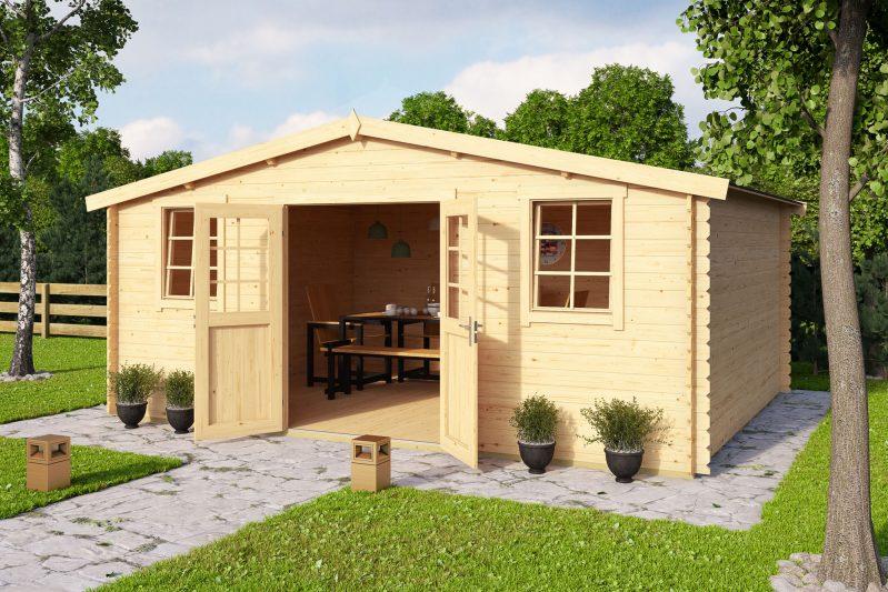 Productcategorie n blokhutten lenferink hout for Gartenhaus mit zwei raumen